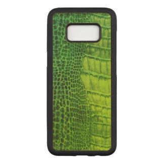 Capa Carved Para Samsung Galaxy S8 Um monstro de mar do olho no couro verde-claro do