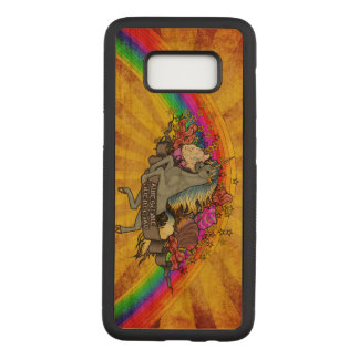 Capa Carved Para Samsung Galaxy S8 Unicórnio da sobrecarga, arco-íris & bordo