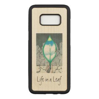 Capa Carved Para Samsung Galaxy S8 Vida em uma folha (magro)
