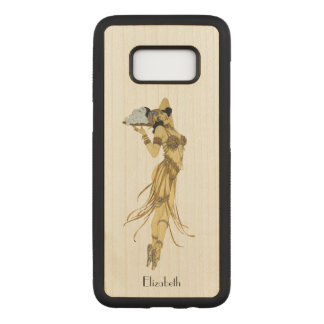 Capa Carved Para Samsung Galaxy S8 Vintage bonito que dança a menina retro