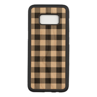 Capa Carved Para Samsung Galaxy S8 Xadrez preta do guingão no embutimento de madeira