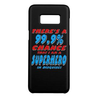 Capa Case-Mate Samsung Galaxy S8 99,9% Eu sou um SUPER-HERÓI (branco)