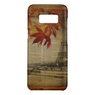 Capa Case-Mate Samsung Galaxy S8 a queda deixa a torre Eiffel de Paris do outono do