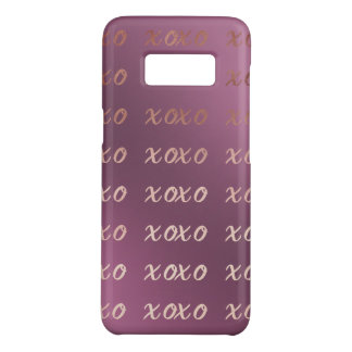 Capa Case-Mate Samsung Galaxy S8 a tipografia cor-de-rosa do ouro do falso abraça e