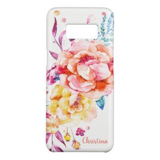 Capa Case-Mate Samsung Galaxy S8 Aguarela bonito coral chique feminino feita sob