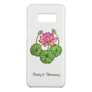 Capa Case-Mate Samsung Galaxy S8 Aguarela Lotus cor-de-rosa com botões & folhas