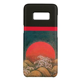 Capa Case-Mate Samsung Galaxy S8 AMETERASU, preto vermelho marrom da DEUSA do SOL