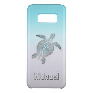Capa Case-Mate Samsung Galaxy S8 Animal de prata do monograma das tartarugas de mar
