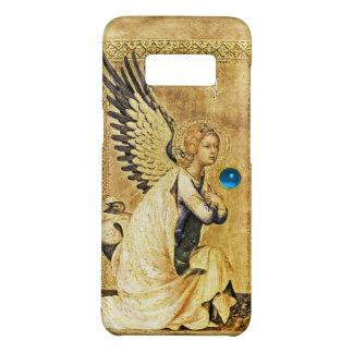 Capa Case-Mate Samsung Galaxy S8 ANJO do AVISO no OURO E AZUL, pergaminho