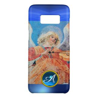 Capa Case-Mate Samsung Galaxy S8 ANJO MUSICAL, monograma azul de pedra preciosa da