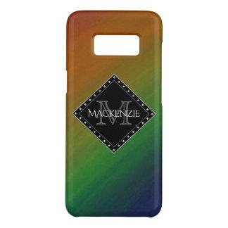 Capa Case-Mate Samsung Galaxy S8 Arco-íris colorido Ombre do monograma à moda de