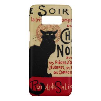 Capa Case-Mate Samsung Galaxy S8 Arte Nouveau do vintage, gato preto Noir do