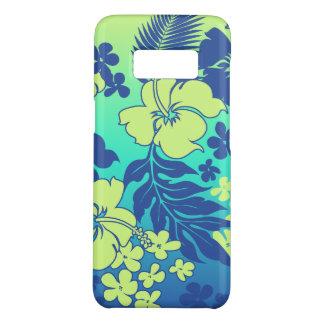 Capa Case-Mate Samsung Galaxy S8 Azul havaiano do limão do hibiscus da mistura de