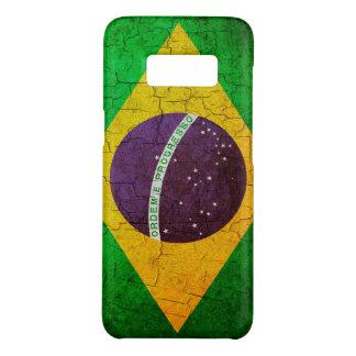 Capa Case-Mate Samsung Galaxy S8 Bandeira brasileira do vintage em um fundo rachado
