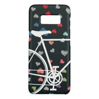 Capa Case-Mate Samsung Galaxy S8 Bicicleta abstrata dos corações pretos do amor