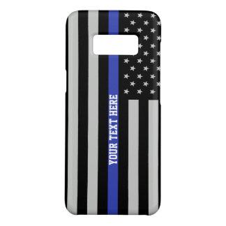 Capa Case-Mate Samsung Galaxy S8 Blue Line fino - costume personalizado da bandeira