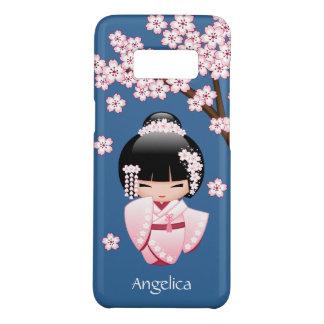 Capa Case-Mate Samsung Galaxy S8 Boneca branca de Kokeshi do quimono - menina de