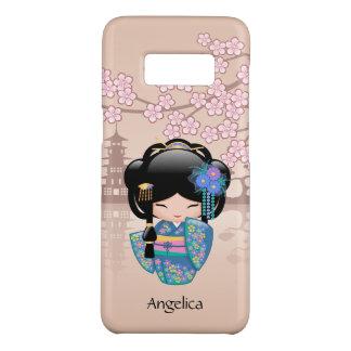 Capa Case-Mate Samsung Galaxy S8 Boneca de Keiko Kokeshi - menina de gueixa azul do