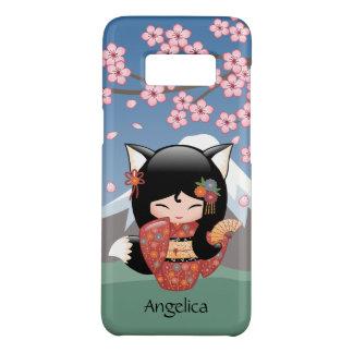 Capa Case-Mate Samsung Galaxy S8 Boneca de Kitsune Kokeshi - menina de gueixa do