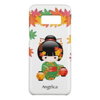 Capa Case-Mate Samsung Galaxy S8 Boneca de Kokeshi da queda - menina de gueixa