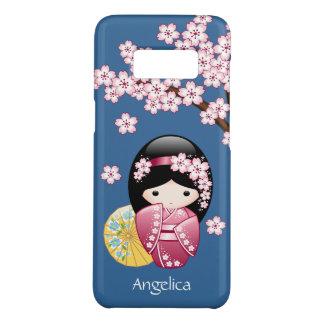 Capa Case-Mate Samsung Galaxy S8 Boneca de Kokeshi do primavera - gueixa japonesa