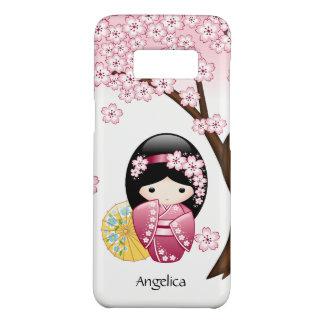 Capa Case-Mate Samsung Galaxy S8 Boneca de Kokeshi do primavera - menina de gueixa