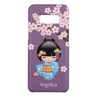 Capa Case-Mate Samsung Galaxy S8 Boneca de Maiko Kokeshi - menina de gueixa azul do