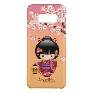 Capa Case-Mate Samsung Galaxy S8 Boneca de Sakura Kokeshi - menina de gueixa no