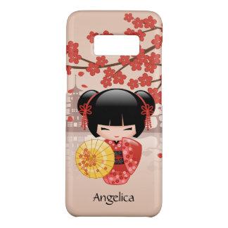 Capa Case-Mate Samsung Galaxy S8 Boneca vermelha de Sakura Kokeshi - gueixa