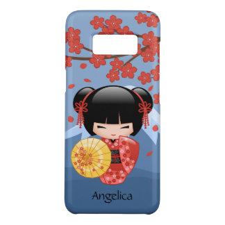 Capa Case-Mate Samsung Galaxy S8 Boneca vermelha de Sakura Kokeshi - menina de