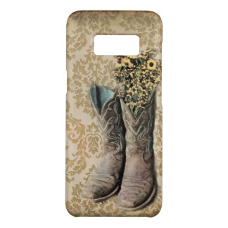 Capa Case-Mate Samsung Galaxy S8 Botas de vaqueiro do país ocidental do wildflower