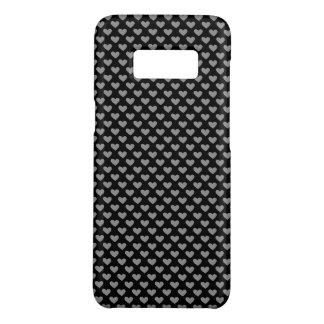 Capa Case-Mate Samsung Galaxy S8 Caixa preto e branco de Patten do coração
