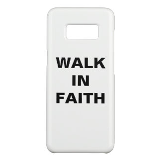 """Capa Case-Mate Samsung Galaxy S8 """"Caminhada caixa da galáxia S8 de Samsung na fé"""""""