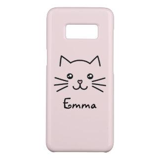 Capa Case-Mate Samsung Galaxy S8 Cara bonito do gato do gatinho de Kawaii com o