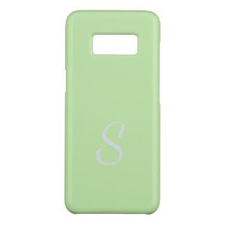 Capa Case-Mate Samsung Galaxy S8 Caso macio elegante Monogrammed do verde do