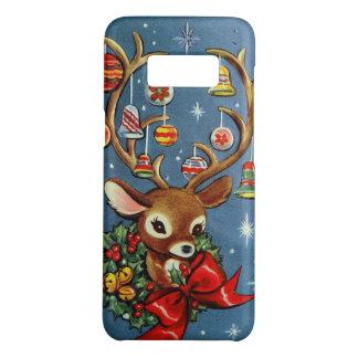 Capa Case-Mate Samsung Galaxy S8 Caso retro do Natal da rena do vintage de Samsung