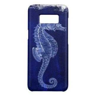 Capa Case-Mate Samsung Galaxy S8 cavalos de mar do vintage do azul de oceano do