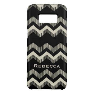 Capa Case-Mate Samsung Galaxy S8 Chevron preto e cinzento do teste padrão feminino