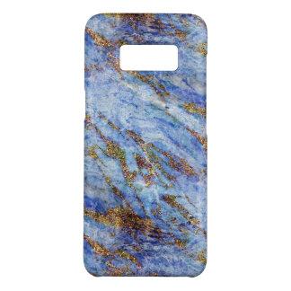 Capa Case-Mate Samsung Galaxy S8 Chique azul elegante feminino de Blingy do mármore