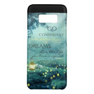 Capa Case-Mate Samsung Galaxy S8 Citações de inspiração lunáticas dos sonhos