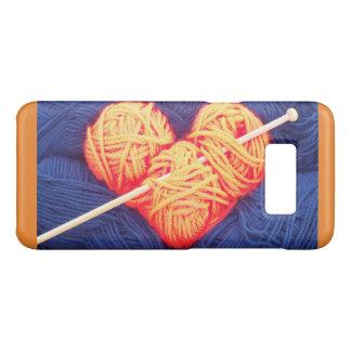 Capa Case-Mate Samsung Galaxy S8 Coração bonito de lãs com a fotografia da agulha