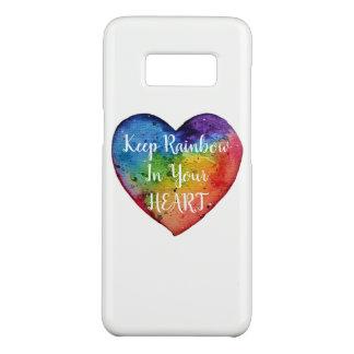 Capa Case-Mate Samsung Galaxy S8 Coração bonito do arco-íris da aguarela
