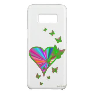 Capa Case-Mate Samsung Galaxy S8 Coração e borboleta do arco-íris