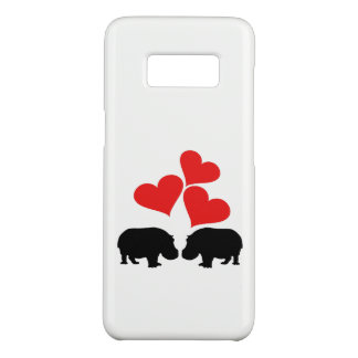 Capa Case-Mate Samsung Galaxy S8 Corações & hipopótamos