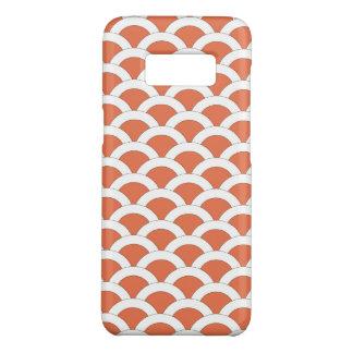 Capa Case-Mate Samsung Galaxy S8 Coral e teste padrão Scalloped branco dos escudos