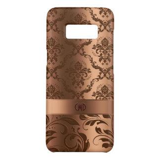 Capa Case-Mate Samsung Galaxy S8 Damascos de cobre de Brown & olhar metálico dos