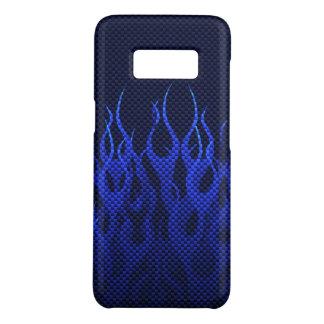 Capa Case-Mate Samsung Galaxy S8 Decoração das chamas azuis em a