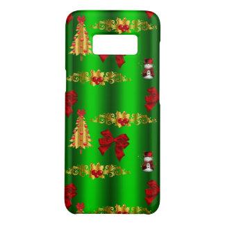 Capa Case-Mate Samsung Galaxy S8 Decorações do Natal no verde