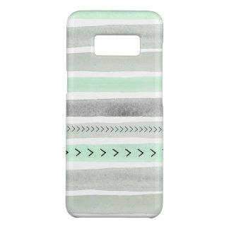 Capa Case-Mate Samsung Galaxy S8 Design cinzento das listras da aguarela do verde