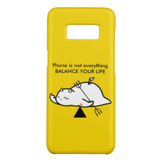 Capa Case-Mate Samsung Galaxy S8 Diabo tímido bonito no AMOR